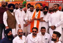 Parambans Singh Romana during rally in Bhogpur