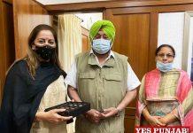 Senu Duggal Baldeep Kaur meet Capt Amarinder 1