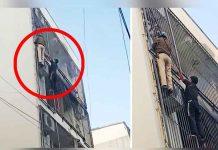 Spidermen cops helps 3 trapped in Delhi blaze