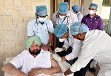 Capt Amarinder jab of Covid vaccination