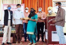 Capt Sandeep Sandhu distributes sanction letters