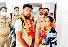 Couple marry in Police Station