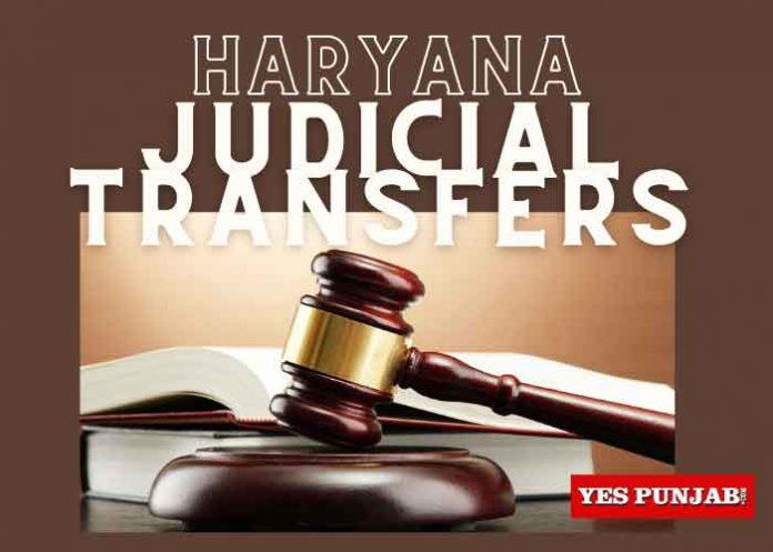Haryana Judicial Transfers