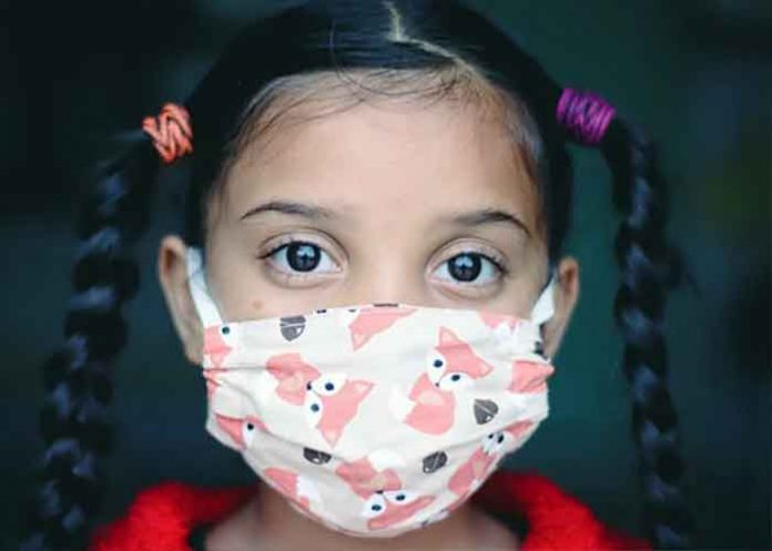 Indian Kid with mask