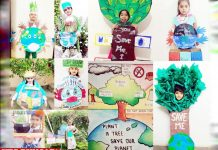 Innocent hearts celebrate Earth Day online activities