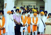 Jatha Departs Celebrate Khalsa Divas Day Gurdwara Sri Panja Sahib Pakistan