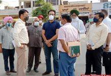 Markfed MD Varun Rozam visit Rajpura Mandi