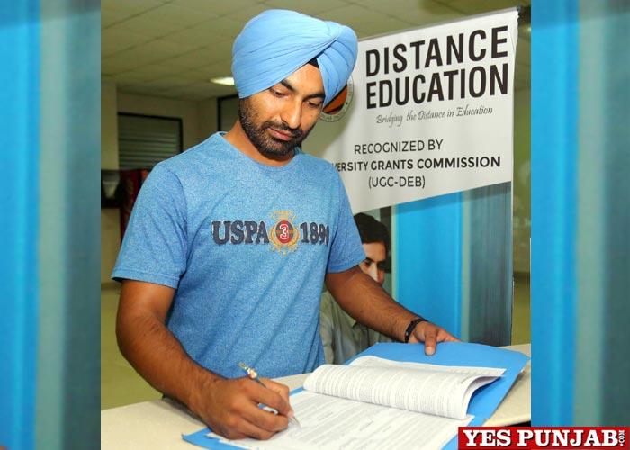 Student filling LPU Distance Education