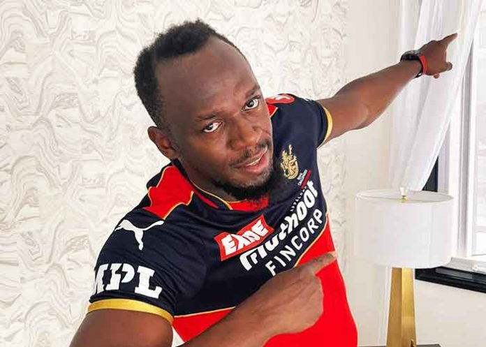 Usain Bolt in RCB Jersey