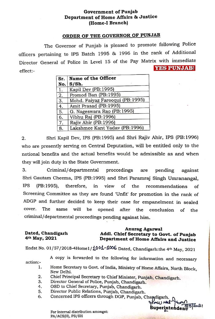 8 IPS officers promoted 040521