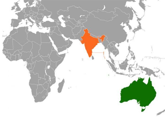 Australia India Map