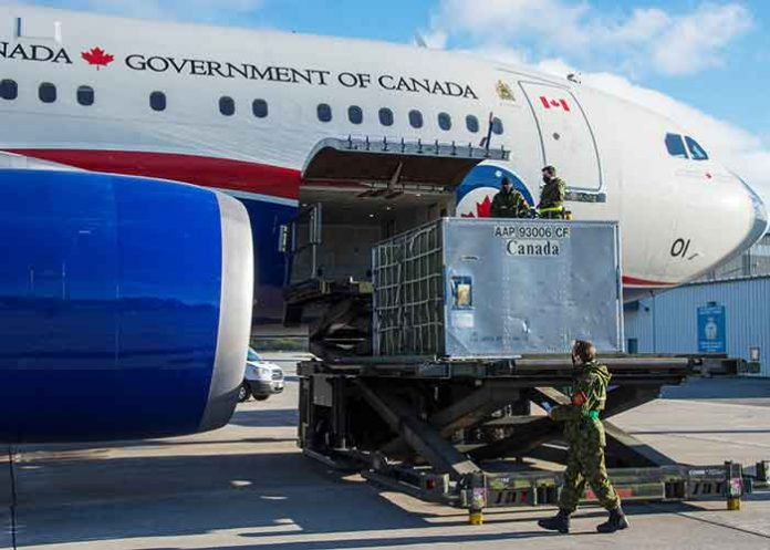 Canada Flight to land in India
