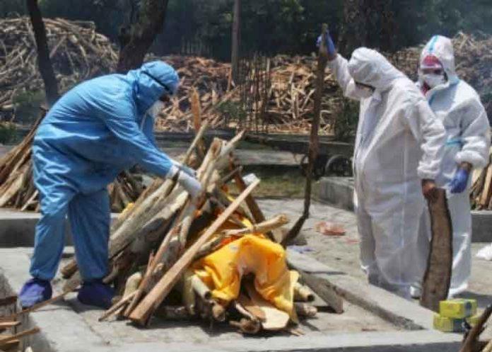 Cremating Covid Corona Victim