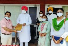 NHM employees meet Balbir Sidhu
