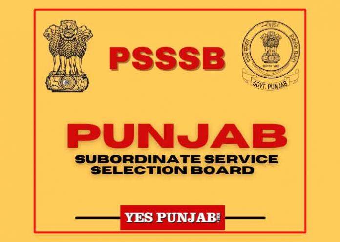 PSSSB Yes Punjab