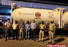 Punjab Oxygen Express leave for Bokaro