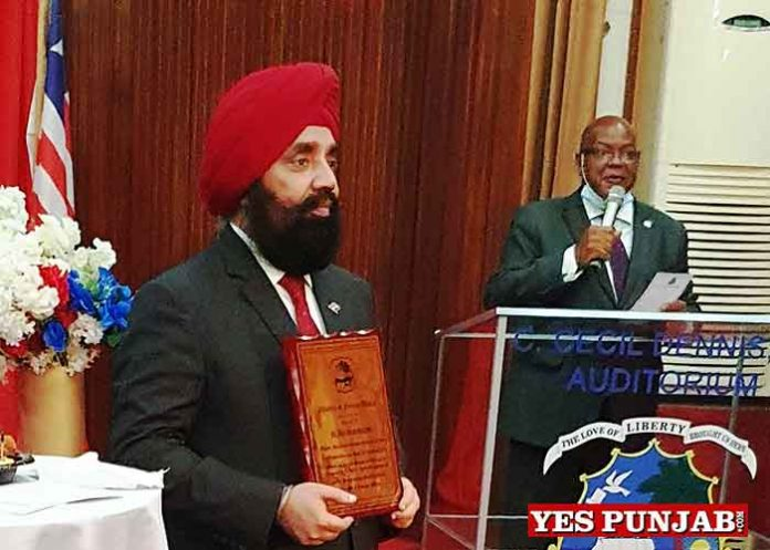 Upjit Sachdeva honoured by Liberia Govt 1