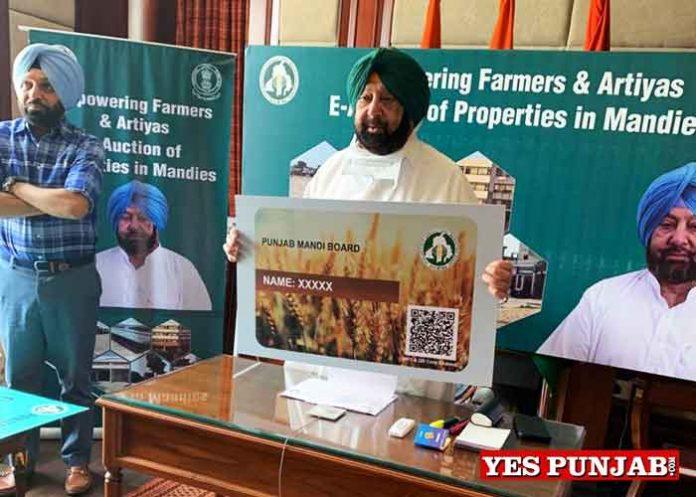 Amarinder launches Portal for e Auction Mandi