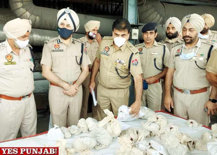 Amritsar Police Drugs narcotics burnt