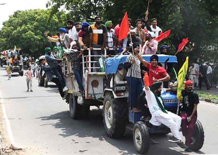 Chandigarh Farmers March Gov House