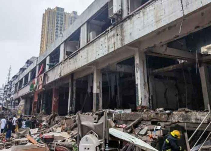 China Hubei gas explosion