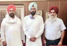 Harbir Duggal and Atamjit David meeting with Rana Sodhi
