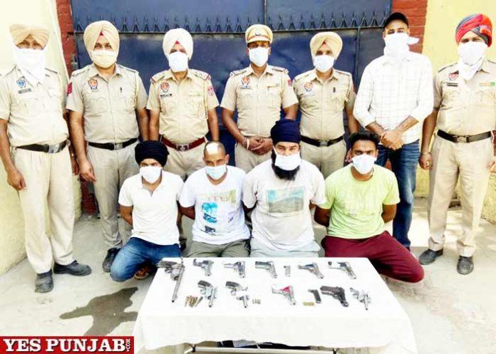 Kapurthala Police bust Gang of Robbers and Weapon