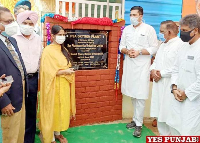 Manish Tewari inaugurates Oxygen Plant Nawanshahar
