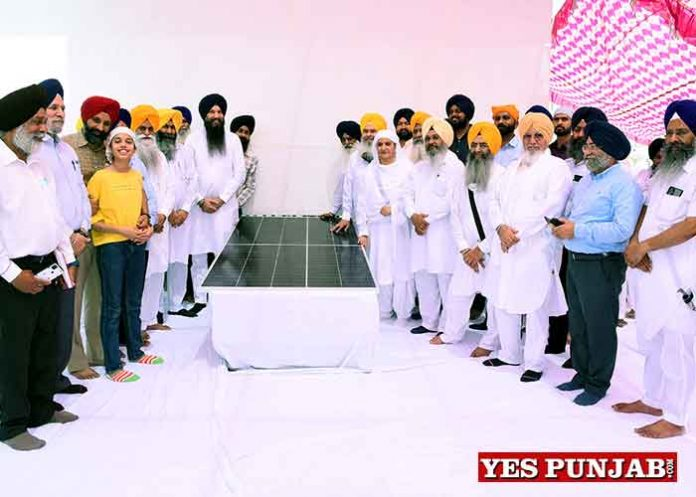 Solar Panel installed at Golden Temple Complex