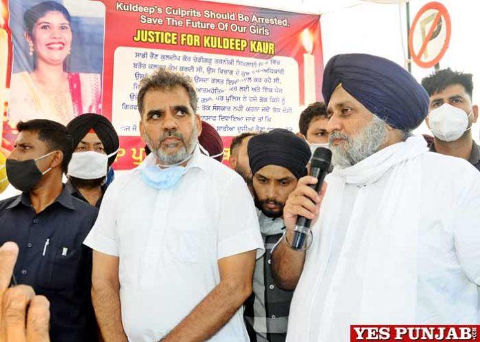 Sukhbir Badal seeks justice for Kuldeep Kaur