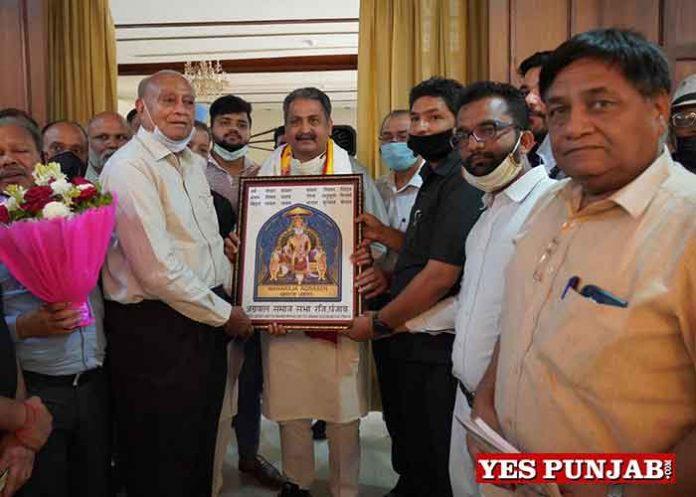 Aggarwal Samaj meet Vijay Inder Singla Chandigarh