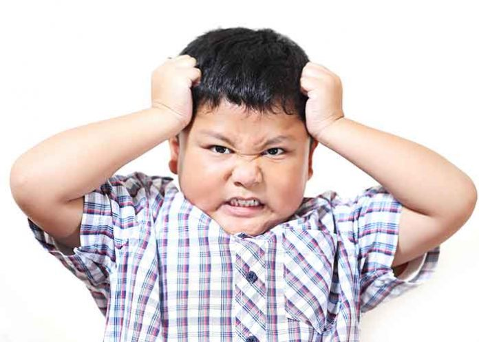 Children getting Angry Anger