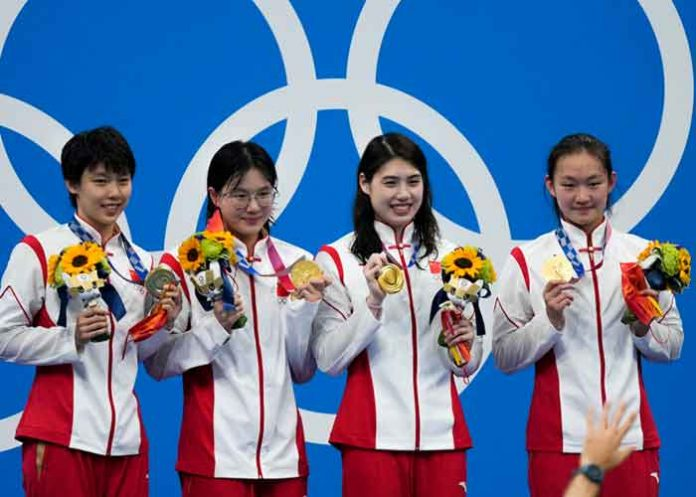 China win freestyle relay Tokyo