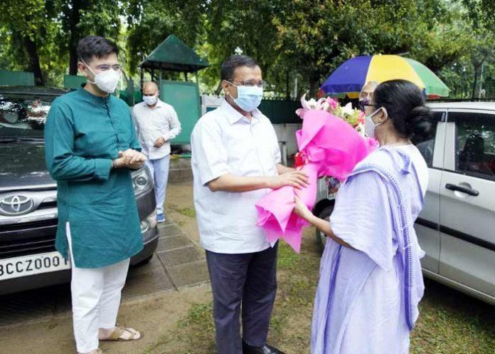 Kejriwal Mamata Meeting