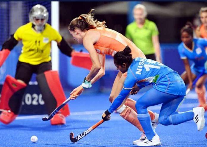 Olympics women Hockey match