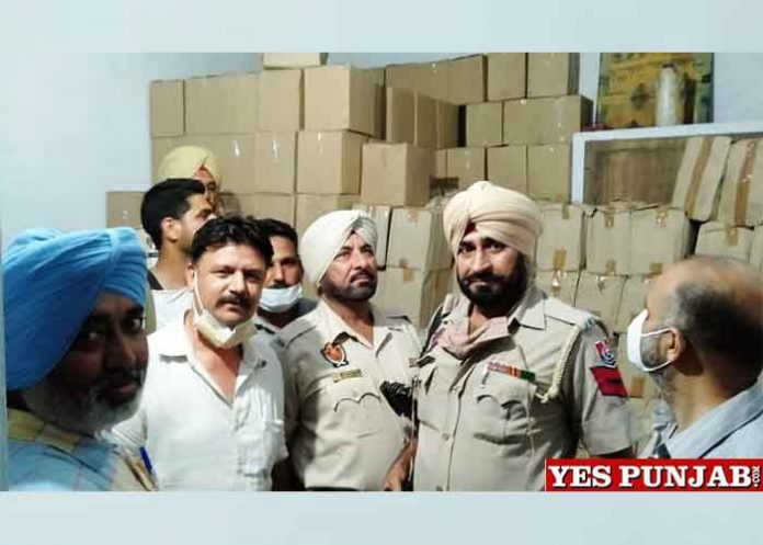 Police Excise Dept raid on Gemco Exports Ludhiana