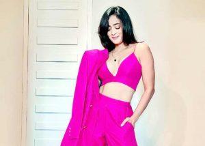 Shweta Tiwari pink dress
