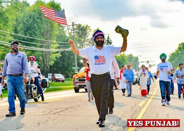 Sikhs during American Ind Day Parade Dayton 1
