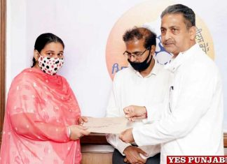 Singla hands over Appointment Letters Education Department