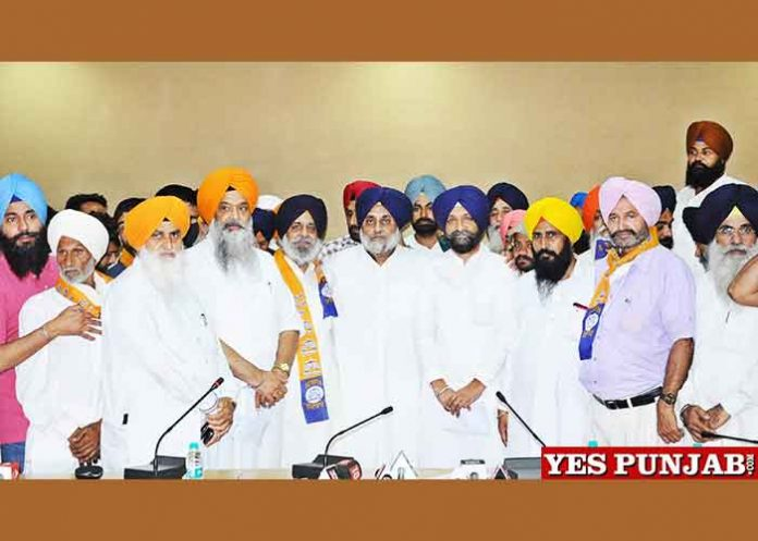 Sukhbir Badal AAP Cong BJP Leaders join SAD