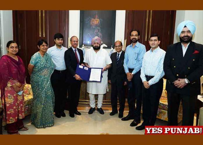 Amarinder give Land Allotment Letter to JK Group