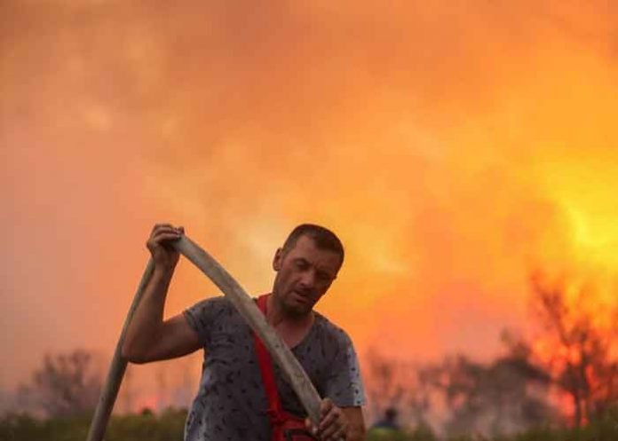 Athens Wildfire Greece