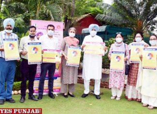 Balbir Sidhu releasing poster wold breastfeeding week