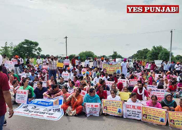 BEd Tat Pass Teachers protest Patiala