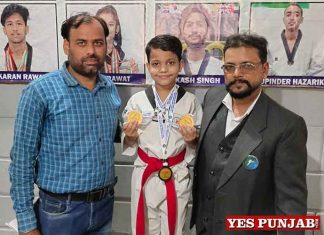 Bhavik Jindal win Medals in Defence Taekwondo Cup 2021
