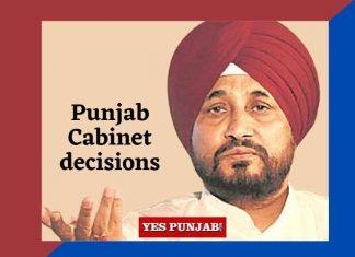 Channi Punjab Cabinet Decisions English