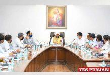 Charanjit Channi meeting with Administrative Secretaries