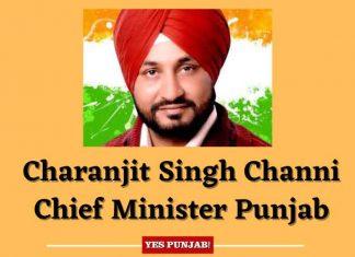 Charanjit Singh Channi Chief Minister