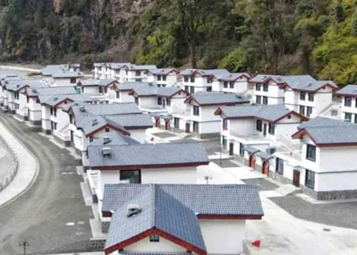 Chinese villages along Indian borders