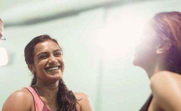Deepika Padukone PV Sindhu badmintion session